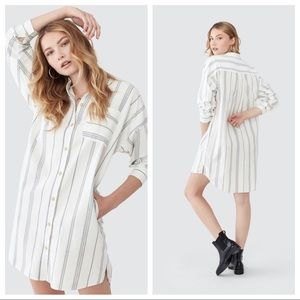 NWT ATM Anthony Thomas Malillo Striped Shirt Dress